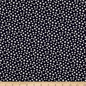 Santee Print Works Patriotic 108'' Quilt Backs Stars Dark Fabric, Navy/Antique, Fabric By The Yard
