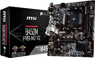 MSI ProSeries AMD Ryzen 1st and 2nd Gen AM4 M.2 USB 3 DDR4 D-SUB DVI HDMI Micro-ATX Motherboard (B450M PRO-M2 V2)