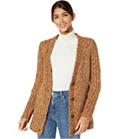 Twisted Slub Boucle Button Front Cardigan KSNK5946