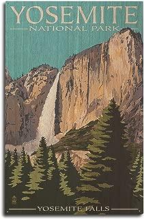 Lantern Press Yosemite National Park, California - Yosemite Falls (10x15 Wood Wall Sign, Wall Decor Ready to Hang)