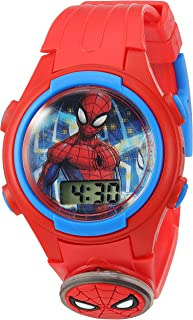 Marvel Boys' Quartz Plastic Strap, red, 15 Casual Watch...