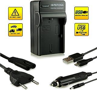 Patona® Cargador de batería con conexión micro USB para batería LP-E6 Canon EOS 5D Mark II / 5D Mark III | EOS 7D | EOS 60D / 60Da y mucho más