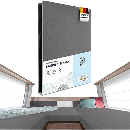 G Bettwarenshop Wohnmobil Wohnwagen Heckbett Spannbetttuch Set 3 Teilig Wollweiss 2 Längsbetten Mittelteil Küche Haushalt