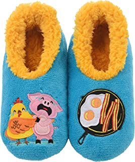 Pairables Womens Slippers - House Slippers - Chicken & Pig