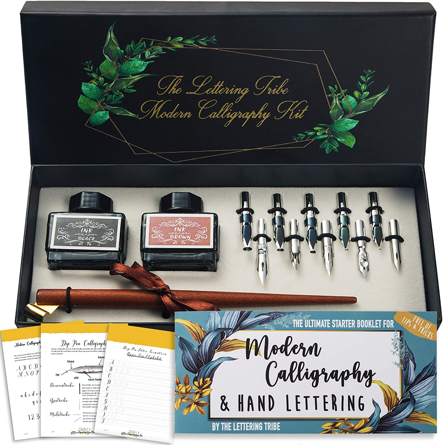 Lettering Tribe Calligraphy Set For Wooden P Oblique Beginners San Max 43% OFF Antonio Mall