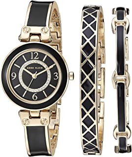 Anne Klein Women's Swarovski Crystal Accented Bangle Watch and Bracelet Set