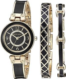 Anne Klein - Juego de reloj y pulsera para mujer con cristales Swarovski