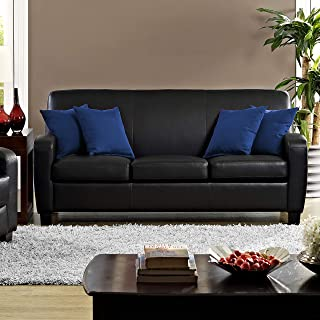 Best faux leather sofa black Reviews
