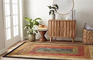 Home Dynamix Royalty Vega Modern Area Rug, Geometric Black/Brown/Red 3'3