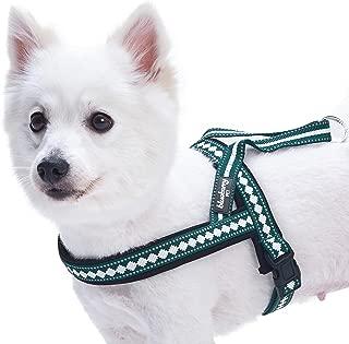 Blueberry Pet 3 Colors Soft & Comy Safety Reflective Padded Jacquard Dog Harnesses