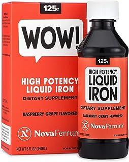 NovaFerrum 125 High Potency Liquid Iron Supplement for Adults, 6 fl oz (180 mL)