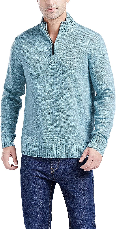 OFFicial shop Gilboa Men's Max 61% OFF Half-Zip Blend Lambswool Sweater