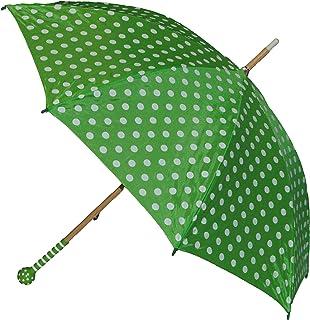 alles-meine.de GmbH alles-meine.de GmbH 2. Wahl - Schirm grün weiße Punkte - Kinderschirm Kinder Stockschirm Regenschirm - gepunktet Punkt Mädchen 90 cm