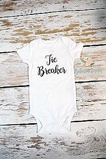 Pregnancy Announcement Onesie - Baby Bodysuit to Announce to Grandparents - Tie Breaker - 469