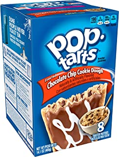 Pop-Tarts BreakfastToaster Pastries, Frosted Chocolate Chip Cookie Dough Flavored, 14.1 oz (8 Count)
