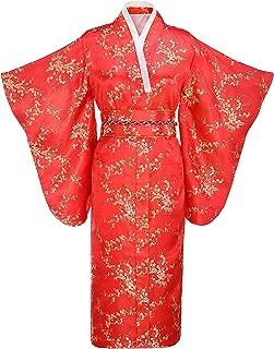 Women's Traditional Japanese Brocade Kimono Robe/Bathrobe/Party Robe