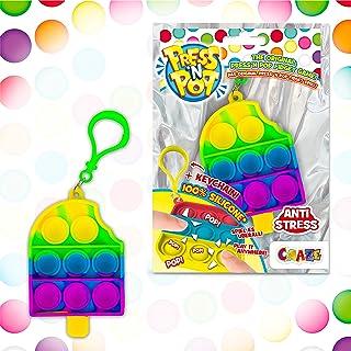 CRAZE Press N POP brelok do kluczy sensoryczny antystresowy dla dzieci i dorosłych, sensory Squeeze Bubble unisex, motyw o...