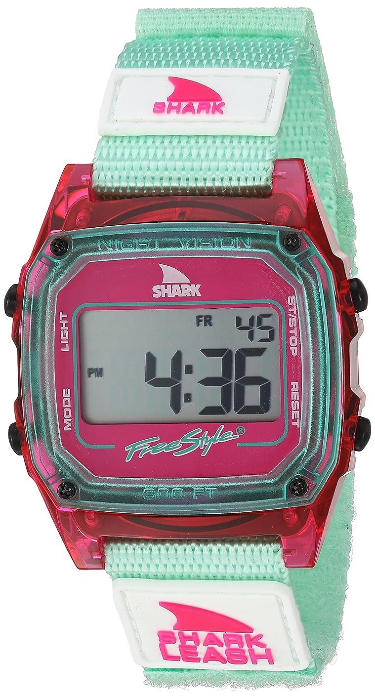 飾り羽小包一掃する[フリースタイル]Freestyle 腕時計 SHARK クラシックリーシュ デジタル 100m防水 ナイロンベルト ピンク×グリーン 10027030 【正規輸入品】