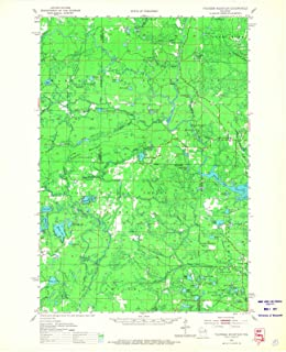 Historic Pictoric - Wisconsin Maps - 1951 Thunder Mountain, WI USGS - Topographic Wall Art : 18in x 24in
