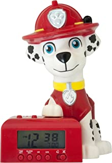 CLILU Paw Patrol 2021319 Marshall Kids Night Light Alarm Clock with Characterised Sound, 5.5 inches tall
