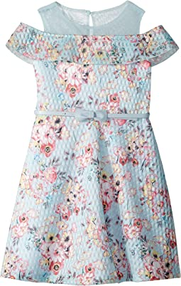Us Angels - Cold Shoulder Fit-and-Flare Dress (Toddler/Little Kids)