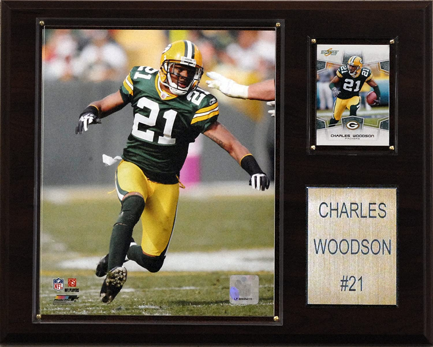 NFL Charles Woodson Green Bay Packers Player Plaque