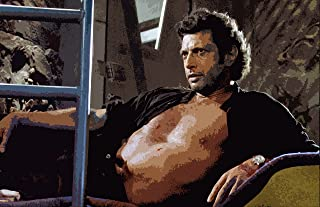 NLopezArt Jeff Goldblum Ian Malcolm Jurassic Park Pop Art Poster Print (11x17 inches)