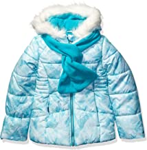 London Fog Girls' Big Heavyweight Puffer Jacket with Scarf