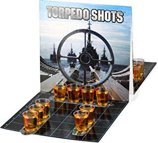 Barbuzzo Torpedo Shots - Ultimate Party Drinking Game - Battleships Shots Drinking Game - Enjoy Your Favorite Liquor and Let the Games Begin - Fun Alcohol Infused Party Games