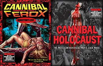 Cannibal Holocaust Deluxe Blu Ray + CD & Cannibal Ferox Director's Cut Double Feature Cult Horror 3 Disc Editions