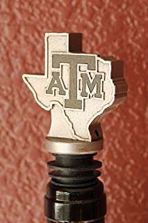 Texas A&M University Wine Aerator Pourer Aggies Licensed Premium Aerating Pourer FDA Approved Stainless Steel Food grade silicone stopper