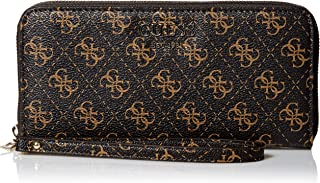 GUESS womens Logo Rock Large Zip Around Wallet
