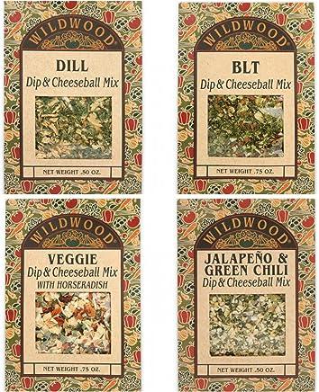 Wildwood Dip & Cheeseball Mix Bundle (4 Pack): BLT, Jalapeño, Dill