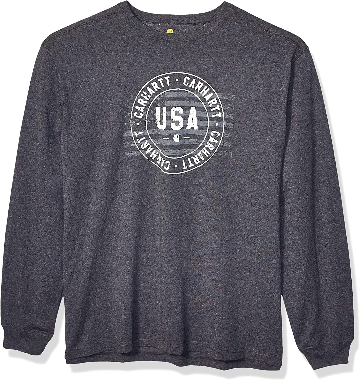 Carhartt Men's Lubbock USA Graphic Long Sleeve T Shirt (Regular and Big & Tall Sizes)