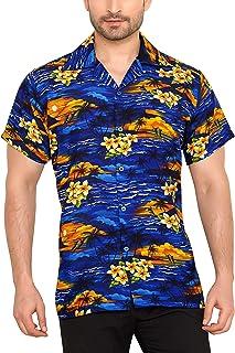767e2f474f160d CLUB CUBANA Camicia da Uomo Hawaiana Floreale Classica Casual A Maniche  Corte Slim Fit