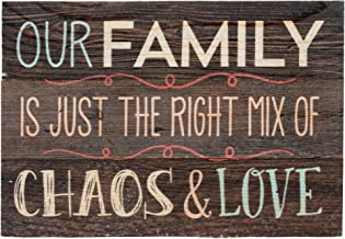 P. Graham Dunn Our Family Dark Stained Plank 5 x 7 Small Wood Plank Design Plaque Sign