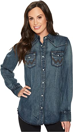 Long Sleeve Snap Western Shirt