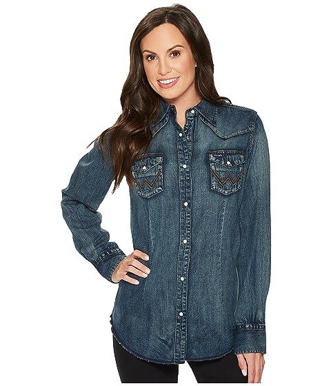 3f2dfd682f Wrangler Long Sleeve Snap Western Shirt at Zappos.com