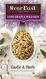 Near East Long Grain & Wild Rice Mix, Garlic & Herb 5.9oz (Pack of 12 Boxes)