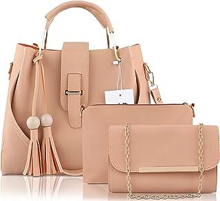 Like Style Generic Women Hand Bag Beige Pack of 3