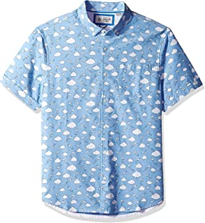 Men's Short Sleeve Printed Button Down Shirt