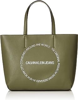 Calvin Klein Sculpted EW Tote Bag, Green, 36 cm, K60K606148
