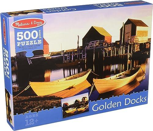 Melissa & Doug oren Docks voituredboard Jigsaw Puzzle, 500-Piece