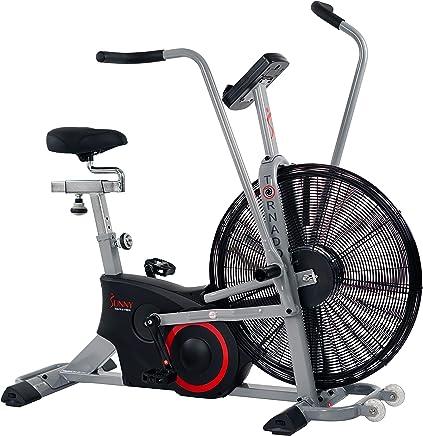 Sunny Health & Fitness Bicicleta de Aire Tornado, Bicicleta de Ejercicio con Ventilador, Bluetooth con Entrenamientos Personalizados - SF-B2706 de