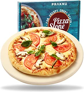 Pierre à Pizza pour Barbecue et Four - Ronde Ø 30 cm - Pour une Pâte Croustillante - Planche Refractaire à Pizza