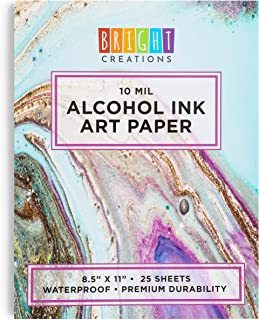Alcohol Ink Pad Art Paper (8.5 x 11 Inches, 25 Sheets)