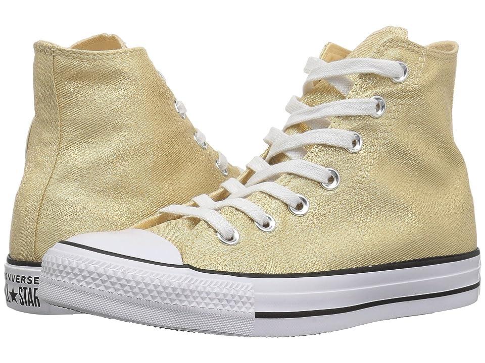 Converse Chuck Taylor All Star Precious Metals Textile Hi (Light Twine/White/Black) Women