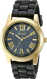 XOXO Womens Quartz Watch, Analog Display and Rubber Strap XO8085