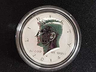 2014 W Gem Reverse Silver Proof Kennedy Half Dollar 1/2 High Relief 50th Anniversary Issue DCAM