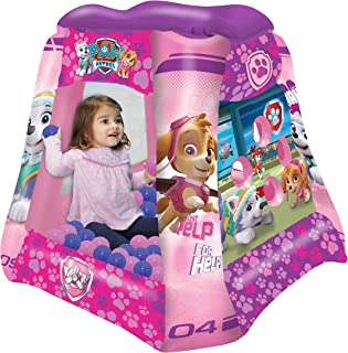 Paw Patrol Girls Ball Pit, 1 Inflatable & 20 Sof-Flex Balls, Pink/Purple, 37